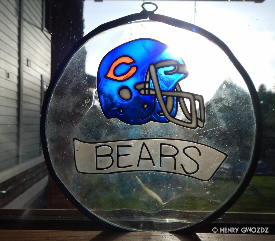Chicago Bears Stained Glass
