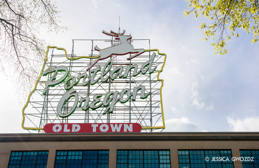 Portland Sign by Jessica Gwozdz