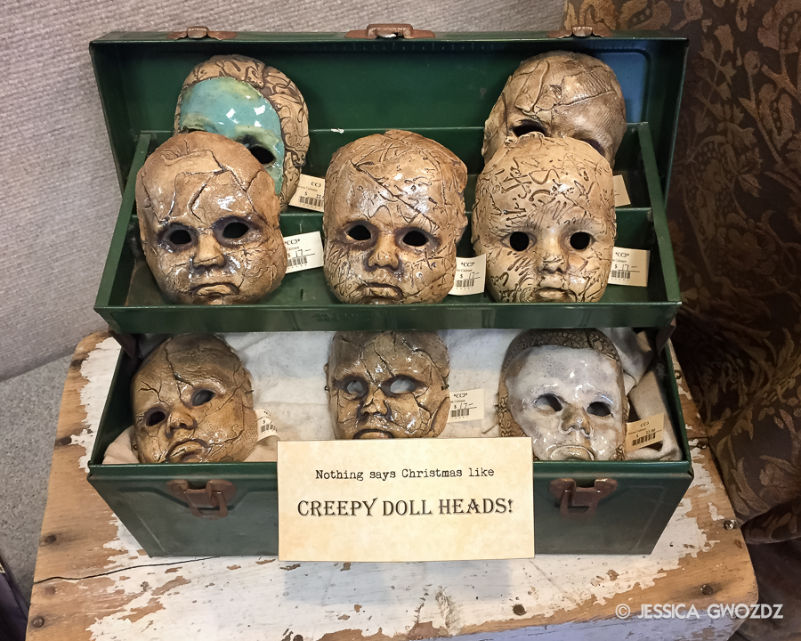 Creepy Doll Heads, Photo by Jessica Gwozdz