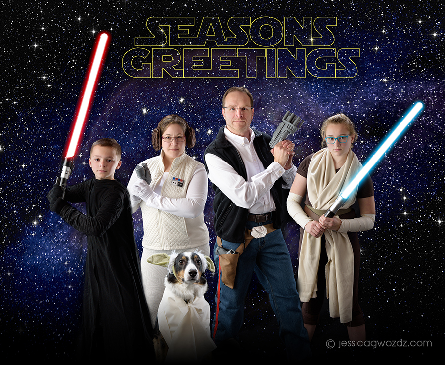 Star Wars Themed Family Photo By Jessica Gwozdz